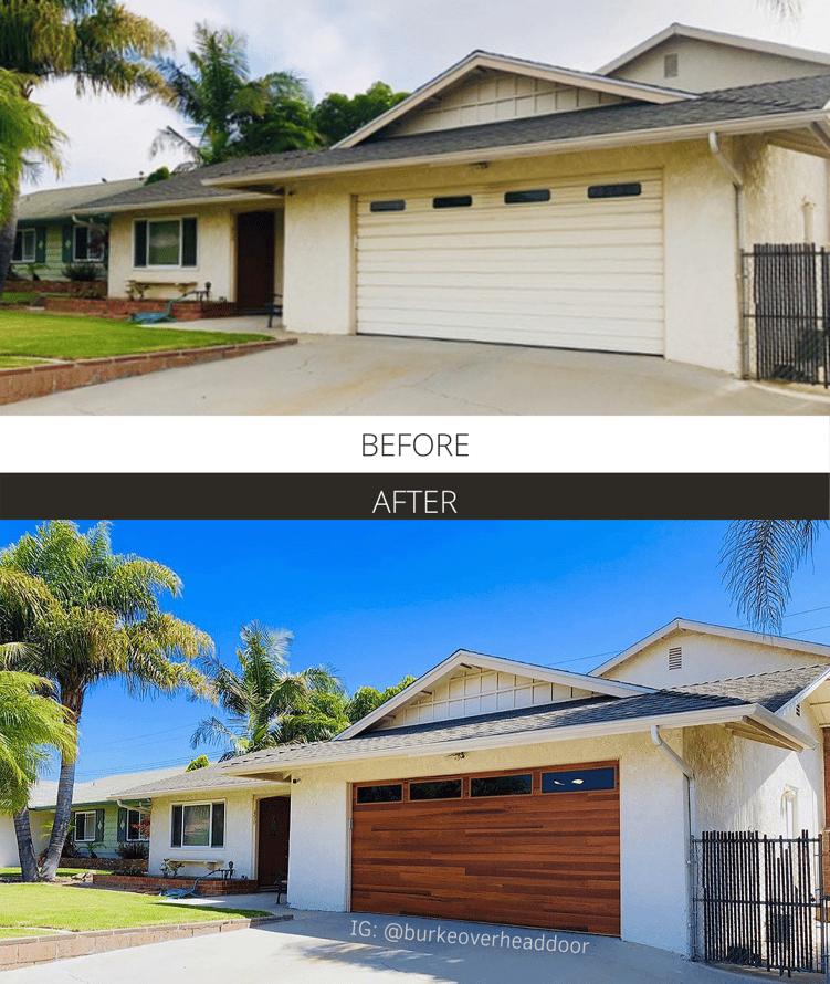 Before and After - @burkeoverheaddoor Cedar Planks