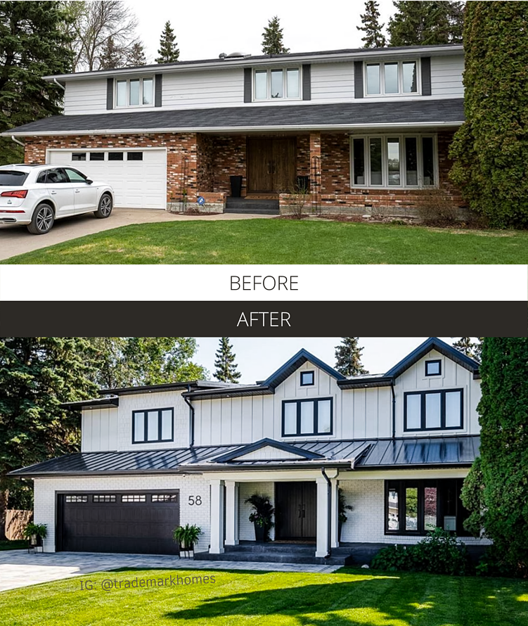 Before and After - @trademarkhomes Black Stamped Shaker