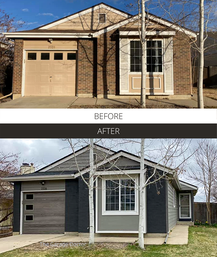 Before and After - The Garage Doctor Driftwood Skyline Flush