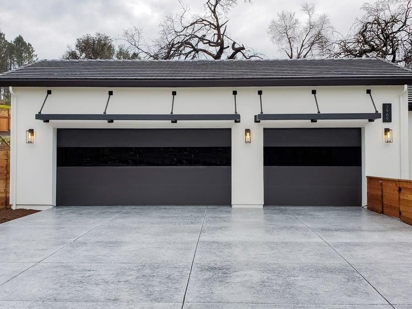 Garage Door Excellence Sterling garage doors on contemporary home infinity glass