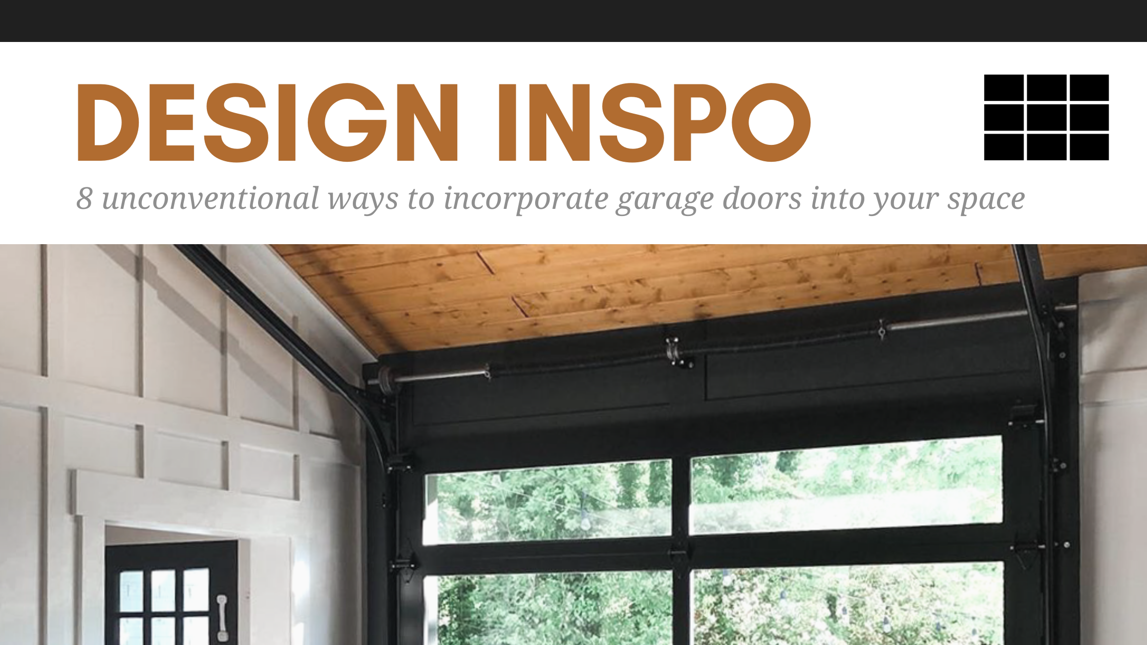 8 Unconventional Ways to Incorporate Garage Doors Into Your Space