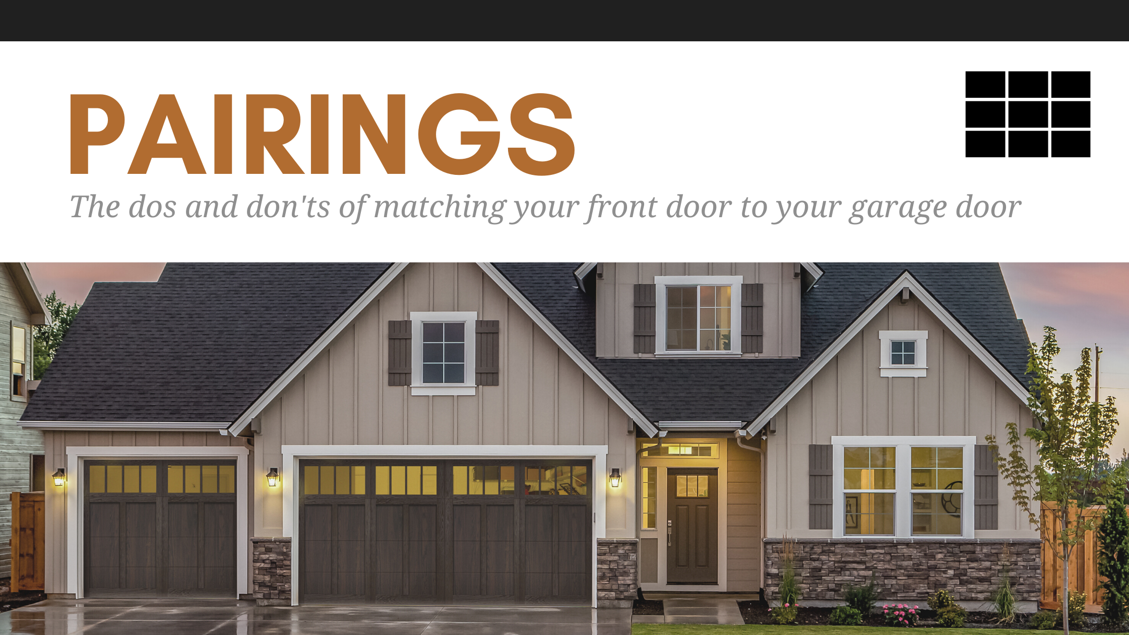 The Dos and Don'ts of Matching Your Front Door to Your Garage Door